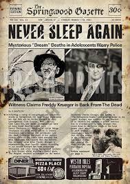 The Springwood Gazette Newspaper print <b>Freddy Krueger</b> ...