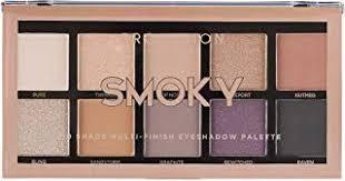 <b>Profusion</b> Cosmetics <b>Mini</b> Artistry 10 Shade <b>Eyeshadow</b> Palette <b>Smoky</b>