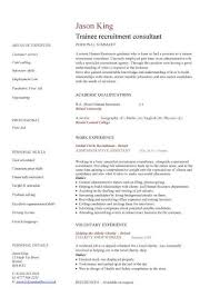 trainee recruitment consultant cv sample  recruitment agencies    trainee recruitment consultant cv sample  recruitment agencies  graduate cv  example  resume sample
