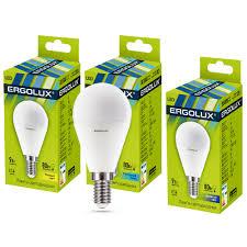 <b>Лампа</b> светодиодная <b>Ergolux</b> LED-G45-<b>9W</b>-<b>E14</b>-3K Шар 9Вт <b>E14</b> ...