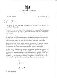 letter and response from the prime minister regarding the dickens prime minister response 11 2015 png
