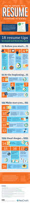 18 ways to improve your resume infographic check out check out net credit s infographic below for 18 tips to improve your resume