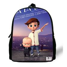 12 Inch Cartoon The <b>Boss Baby Print</b> Backpack For Children ...