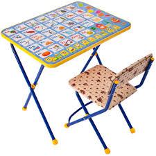 НИКА <b>Комплект</b> детской <b>мебели</b>: <b>стол</b> 60х45х58см, стул ...