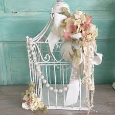 shabby chic white bird cage decorated wire metal bird cage hallstrom home chic white home