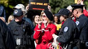 <b>Jane</b> Fonda marches on Capitol Hill in finale '<b>Fire</b> Drill Friday' protest ...