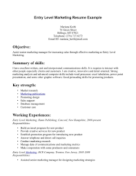 sample entry level resumes templates   resume sample information    sample resume  sample entry level resume template for marketing with working experiences  sample entry