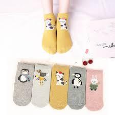 Online Shop <b>5Pairs</b> New Arrivl <b>Women</b> Cotton <b>Socks</b> Pink Cute Cat ...