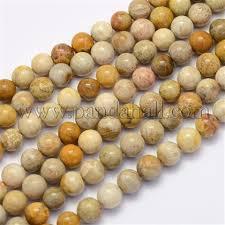 Wholesale <b>Natural Chrysanthemum Stone Beads</b> Strands, Round ...