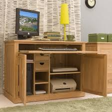 awesome pine desks for home office in contemporary room style baumhaus hidden home office 2 door cabinet
