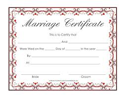 best photos of marriage certificate template marriage printable marriage certificates