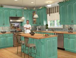 Turquoise Kitchen Turquoise Cabinets Kitchen Monsterlune
