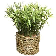 <b>Искусственное растение</b> Циперус в <b>джутовом</b> горшке 16 см ...
