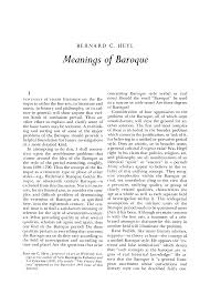 Meanings of <b>Baroque</b>