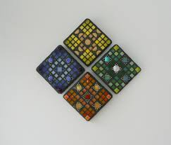 mosaic wall decor: mosaic wall art dots of colour wall art home daccor in  parts