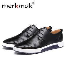 <b>Merkmak Luxury Brand</b> Spring Summer Breathable Holes Men ...