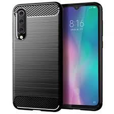 <b>LEEHUR Carbon Fiber</b> TPU Phone Case for Xiaomi Mi 9 SE Black ...