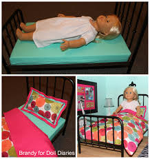 as you can see an 18 inch doll fits perfectly on this bed you can purchase a mattress and bedding from this etsy shop i chose to make my own bedding to vintage modern dollhouse furniture 1200 etsy