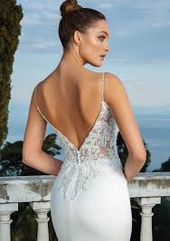 Stretch <b>Satin</b> Fit and Flare Gown with <b>Beaded Appliques</b> Style88119