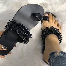 Women <b>Fashion Casual Shoes</b> Crystal Sandals Summer Slippers