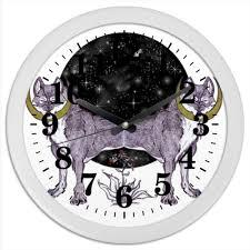 Часы круглые из пластика <b>Волчья ягода</b> #1044756 от Naoki ...