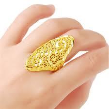 Брендовое <b>Золотое кольцо</b> с полым узором Aneis, <b>ювелирное</b> ...