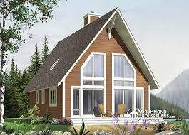 House plan W detail from DrummondHousePlans comfront   BASE MODEL Affordable cottage   cathedral ceiling and rustic feel   Whiskey Jack