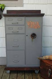 best ideas about wells fargo logo meet meaning vintage repurposed steelmaster file cabinet steel wheels barn wood top and hand painted