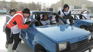 Image result for russian curling with cars