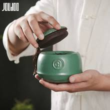 <b>JOUDOO</b> 3D Retro <b>Ceramic</b> Tea Can Black&Green Solid <b>Creative</b> ...