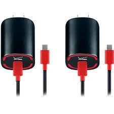 Verizon <b>USB</b> Type-C Wall Charger <b>2</b>-<b>Pack</b> with Fast Charge ...