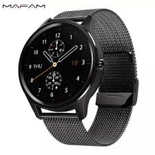 MAFAM <b>DT55 Smart Watch</b> 1.3inch Full Touch Screen Clock Heart ...