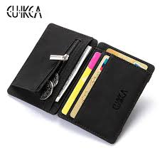 <b>CUIKCA Magic Wallet</b> Magic Money Clip Zipper Coins Wallet Purse ...