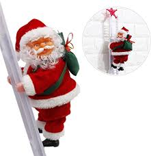 Sundlight Electric Santa Claus Climbing Ladder Doll ... - Amazon.com
