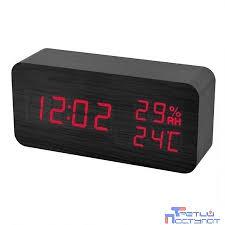 часы perfeo pf s736 wood led black green pf_a4392