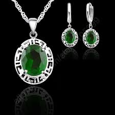 <b>New</b> Arrival Jewelry <b>Sets 925</b> Sterling Silver Round Fashion ...