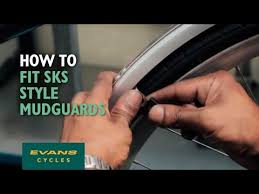 How to fit SKS style <b>mudguards</b> - YouTube