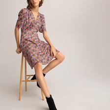 <b>Платье струящееся</b>, с цветочным рисунком рисунок/фон черный ...