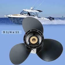 9 1/4 x 11 <b>Aluminum Boat Outboard</b> Propeller for Suzuki 9.9 15HP ...