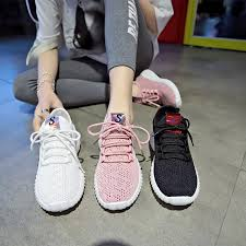 New Women's <b>Flying woven</b> Breathable Sneakers Flat Casual ...