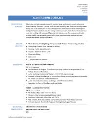 actor actress resume samples and template onlineresumebuilders actor resume template