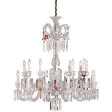 baccarat unfocused zenith 24 light chandelier baccarat zenith arm black crystal chandelier