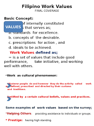 filipino work values value personal and cultural