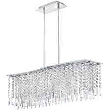 Modern Crystal Chandeliers For Dining Room Rectangular Modern Crystal Chandelier Lighting For Large