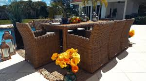 Malmo <b>9 Piece Outdoor Dining</b> Table Set - YouTube