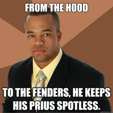 From the hood To the fenders, he keeps his Prius spotless ... via Relatably.com