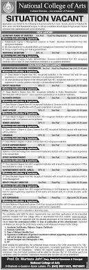 jobs in national college of arts
