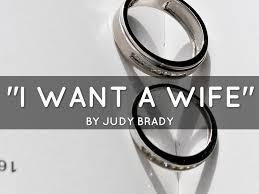 i want a wife course work math essay i want a wife by judy brady