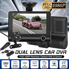 Home Surveillance Parts & Accessories HD 1080P <b>3 Lens Car</b> DVR ...