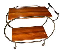 art deco rolling bar cart restored art deco furniture san francisco